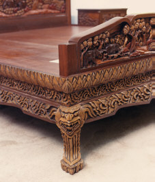 hand carved vietnamese furniture king size bed - Hand Carved Bedroom Furniture