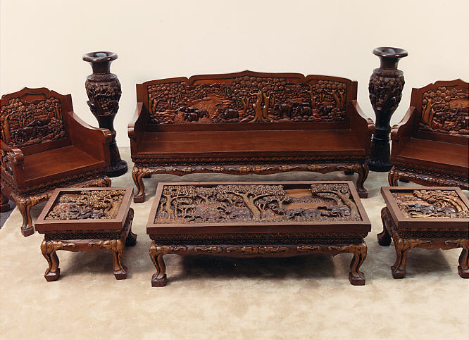 Hand Carved Vietnamese Furniture - Living Room Set