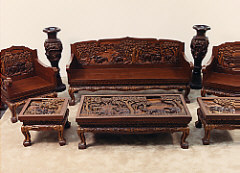 All Of This Furniture Is Solid Hand Carved Wood And Was Brought To The United States In Late 1960 S It Made By One Vietnamese Man As A Hobby